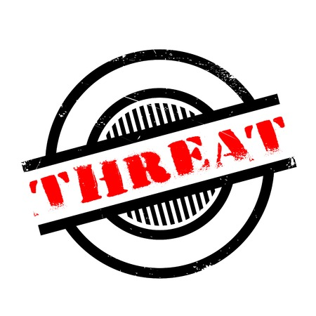 threat: Threat rubber stamp. Grunge design with dust scratches. Effects can be easily removed for a clean, crisp look. Color is easily changed. Illustration