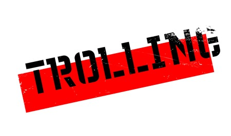 trolling: Trolling rubber stamp. Grunge design with dust scratches. Effects can be easily removed for a clean, crisp look. Color is easily changed. Illustration