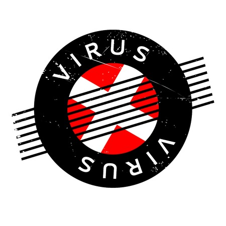 spyware: Virus rubber stamp. Grunge design with dust scratches. Effects can be easily removed for a clean, crisp look. Color is easily changed. Illustration
