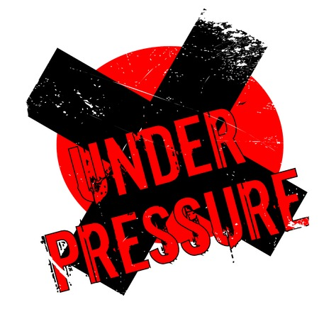 Under Pressure rubber stamp. Grunge design with dust scratches. Effects can be easily removed for a clean, crisp look. Color is easily changed. Illustration