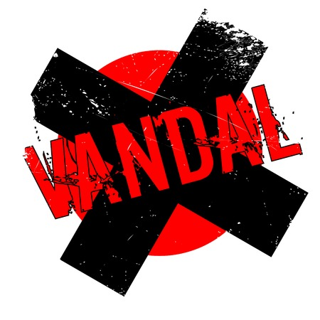 riot: Vandal rubber stamp. Grunge design with dust scratches. Effects can be easily removed for a clean, crisp look. Color is easily changed.