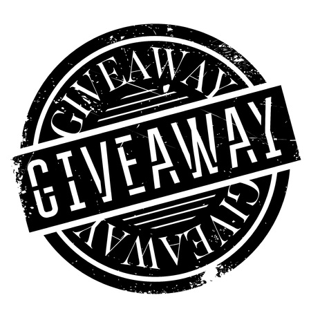 Giveaway rubber stamp. Grunge design with dust scratches. Effects can be easily removed for a clean, crisp look. Color is easily changed.