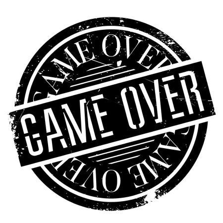 postmark: Game Over rubber stamp. Grunge design with dust scratches. Effects can be easily removed for a clean, crisp look. Color is easily changed.