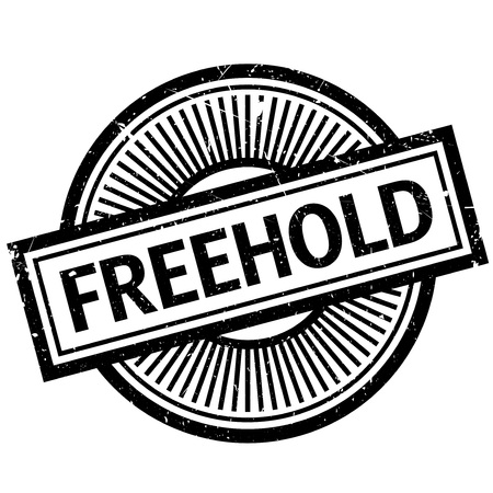 Freehold rubber stamp. Grunge design with dust scratches. Effects can be easily removed for a clean, crisp look. Color is easily changed. Illustration
