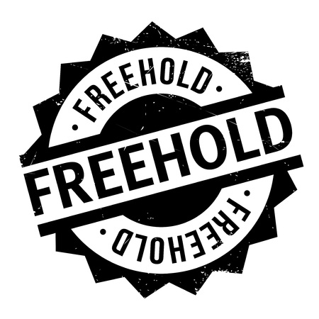 renting: Freehold rubber stamp. Grunge design with dust scratches. Effects can be easily removed for a clean, crisp look. Color is easily changed. Illustration
