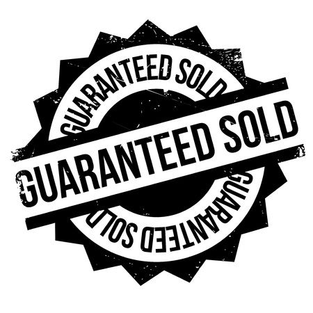 attested: Guaranteed Sold rubber stamp. Grunge design with dust scratches. Effects can be easily removed for a clean, crisp look. Color is easily changed.