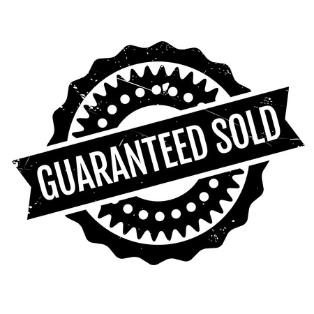 Guaranteed Sold rubber stamp. Grunge design with dust scratches. Effects can be easily removed for a clean, crisp look. Color is easily changed.