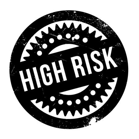 risky situation: High Risk rubber stamp. Grunge design with dust scratches. Effects can be easily removed for a clean, crisp look. Color is easily changed.
