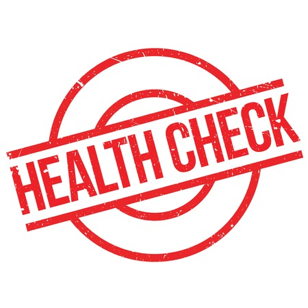 Health Check rubber stamp. Grunge design with dust scratches. Effects can be easily removed for a clean, crisp look. Color is easily changed. Illustration