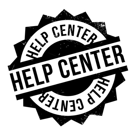 avail: Help Center rubber stamp. Grunge design with dust scratches. Effects can be easily removed for a clean, crisp look. Color is easily changed.