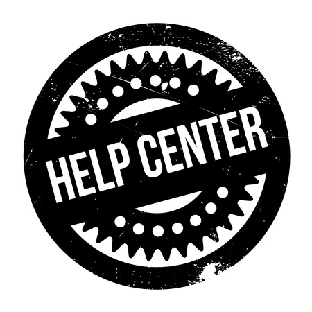 corrective: Help Center rubber stamp. Grunge design with dust scratches. Effects can be easily removed for a clean, crisp look. Color is easily changed.