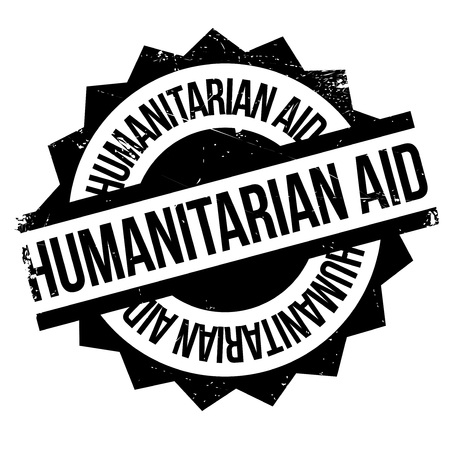 Humanitarian Aid rubber stamp. Grunge design with dust scratches. Effects can be easily removed for a clean, crisp look. Color is easily changed. Illustration