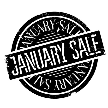 auction off: January Sale rubber stamp. Grunge design with dust scratches. Effects can be easily removed for a clean, crisp look. Color is easily changed.