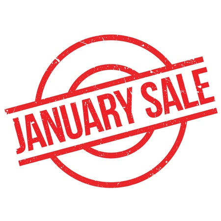 consuming: January Sale rubber stamp. Grunge design with dust scratches. Effects can be easily removed for a clean, crisp look. Color is easily changed.
