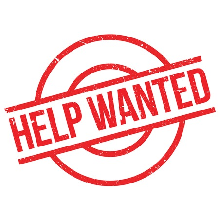 avail: Help Wanted rubber stamp. Grunge design with dust scratches. Effects can be easily removed for a clean, crisp look. Color is easily changed.