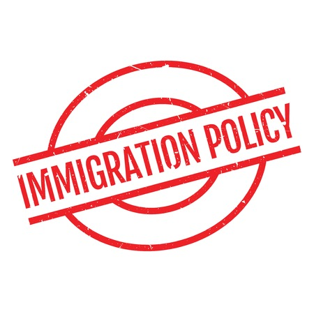 refugee: Immigration Policy rubber stamp. Grunge design with dust scratches. Effects can be easily removed for a clean, crisp look. Color is easily changed. Illustration