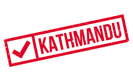 himalayas: Kathmandu rubber stamp. Grunge design with dust scratches. Effects can be easily removed for a clean, crisp look. Color is easily changed.