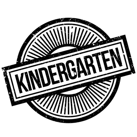 creche: Kindergarten rubber stamp. Grunge design with dust scratches. Effects can be easily removed for a clean, crisp look. Color is easily changed.