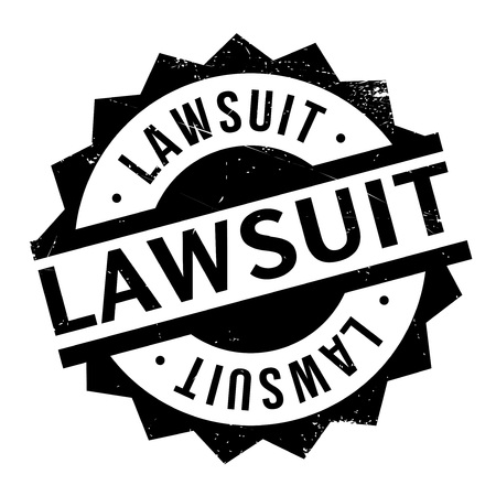 accuse: Lawsuit rubber stamp. Grunge design with dust scratches. Effects can be easily removed for a clean, crisp look. Color is easily changed.
