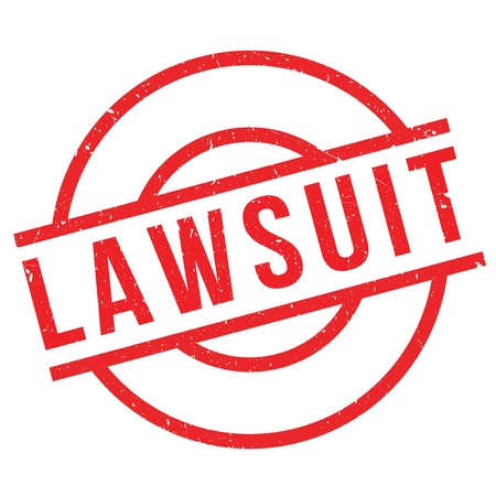 prosecute: Lawsuit rubber stamp. Grunge design with dust scratches. Effects can be easily removed for a clean, crisp look. Color is easily changed.