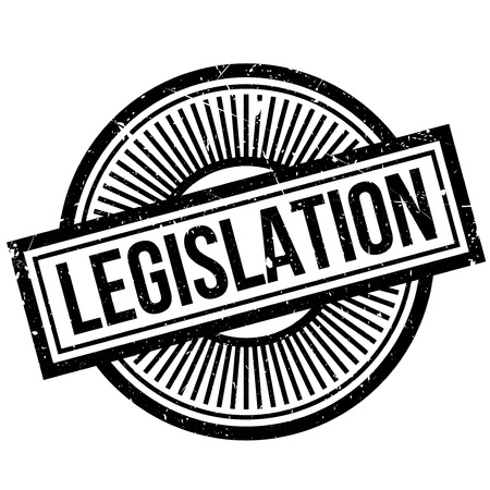 Legislation rubber stamp. Grunge design with dust scratches. Effects can be easily removed for a clean, crisp look. Color is easily changed. Illustration