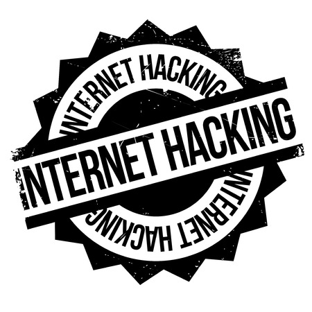 fraudulent: Internet Hacking rubber stamp. Grunge design with dust scratches. Effects can be easily removed for a clean, crisp look. Color is easily changed.