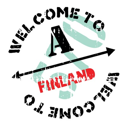 transnational: Finland stamp. Grunge design with dust scratches. Effects can be easily removed for a clean, crisp look. Color is easily changed.
