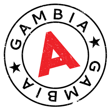 Gambia stamp. Grunge design with dust scratches. Effects can be easily removed for a clean, crisp look. Color is easily changed. Illustration