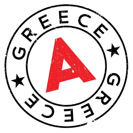 Greece stamp. Grunge design with dust scratches. Effects can be easily removed for a clean, crisp look. Color is easily changed.