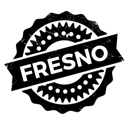 san joaquin valley: Fresno stamp. Grunge design with dust scratches. Effects can be easily removed for a clean, crisp look. Color is easily changed.