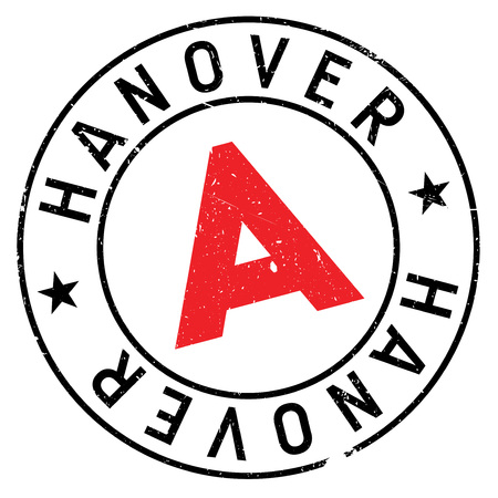 Hanover stamp. Grunge design with dust scratches. Effects can be easily removed for a clean, crisp look. Color is easily changed. Illustration