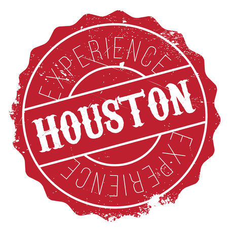 Houston stamp. Grunge design with dust scratches. Effects can be easily removed for a clean, crisp look. Color is easily changed. Illustration