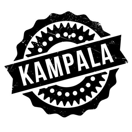 kampala: Kampala stamp. Grunge design with dust scratches. Effects can be easily removed for a clean, crisp look. Color is easily changed.