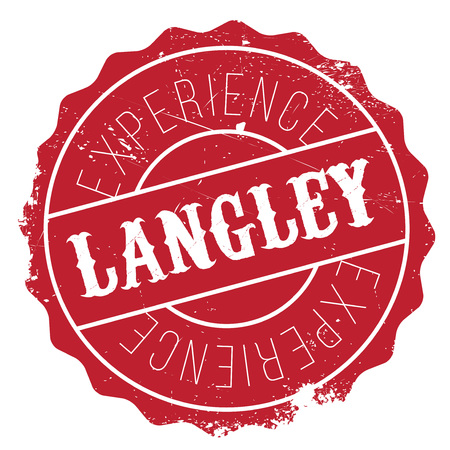 Langley stamp. Grunge design with dust scratches. Effects can be easily removed for a clean, crisp look. Color is easily changed. Illustration