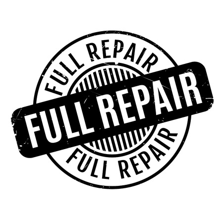Full Repair rubber stamp. Grunge design with dust scratches. Effects can be easily removed for a clean, crisp look. Color is easily changed. Illustration