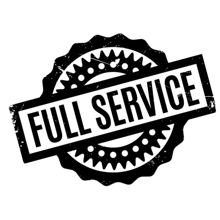 indulgence: Full Service rubber stamp. Grunge design with dust scratches. Effects can be easily removed for a clean, crisp look. Color is easily changed.