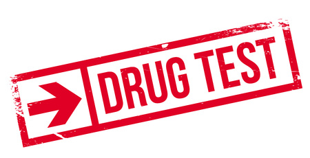 questioning: Drug test stamp. Grunge design with dust scratches. Effects can be easily removed for a clean, crisp look. Color is easily changed. Illustration