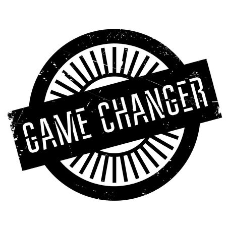Game changer stamp. Grunge design with dust scratches. Effects can be easily removed for a clean, crisp look. Color is easily changed. Ilustração