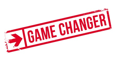 undertaking: Game changer stamp. Grunge design with dust scratches. Effects can be easily removed for a clean, crisp look. Color is easily changed. Illustration