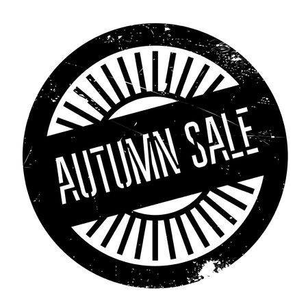 unloading: Autumn sale stamp. Grunge design with dust scratches. Effects can be easily removed for a clean, crisp look. Color is easily changed.