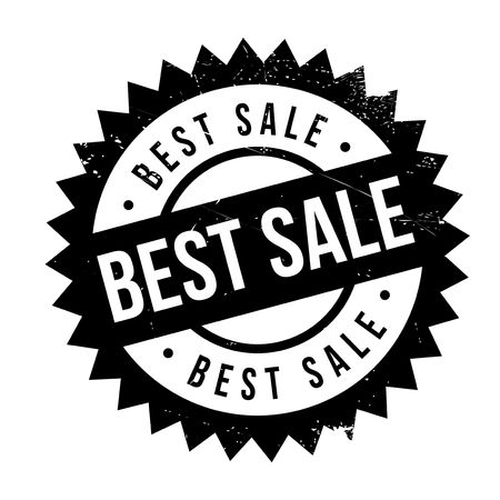 superlative: Best sale stamp. Grunge design with dust scratches. Effects can be easily removed for a clean, crisp look. Color is easily changed. Illustration