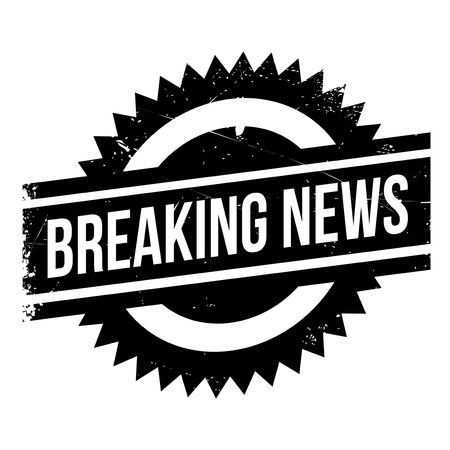 cognizance: Breaking news stamp. Grunge design with dust scratches. Effects can be easily removed for a clean, crisp look. Color is easily changed.