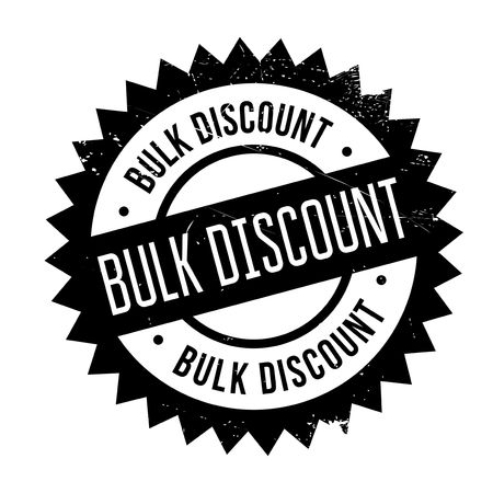 Bulk discount stamp. Grunge design with dust scratches. Effects can be easily removed for a clean, crisp look. Color is easily changed.