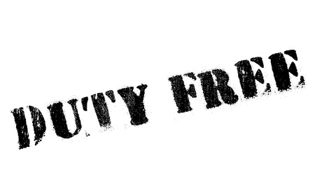 levy: Duty free stamp. Grunge design with dust scratches. Effects can be easily removed for a clean, crisp look. Color is easily changed. Illustration