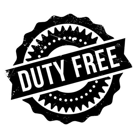 taking charge: Duty free stamp. Grunge design with dust scratches. Effects can be easily removed for a clean, crisp look. Color is easily changed. Illustration