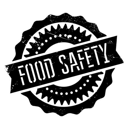 safeness: Food safety stamp. Grunge design with dust scratches. Effects can be easily removed for a clean, crisp look. Color is easily changed.
