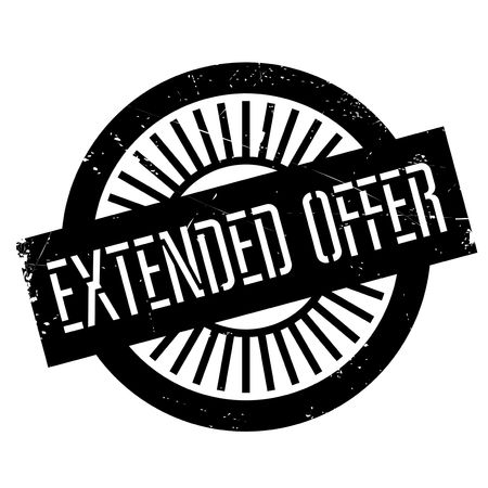 Extended offer stamp. Grunge design with dust scratches. Effects can be easily removed for a clean, crisp look. Color is easily changed.