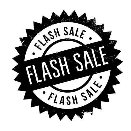 Flash sale stamp. Grunge design with dust scratches. Effects can be easily removed for a clean, crisp look. Color is easily changed. Illustration