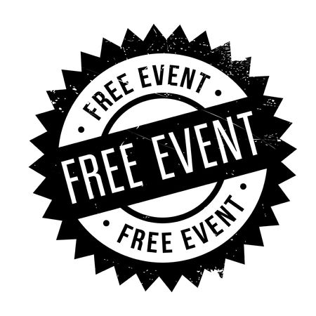 Free event stamp. Grunge design with dust scratches. Effects can be easily removed for a clean, crisp look. Color is easily changed.