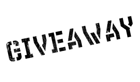giveaway: Giveaway stamp. Grunge design with dust scratches. Effects can be easily removed for a clean, crisp look. Color is easily changed.